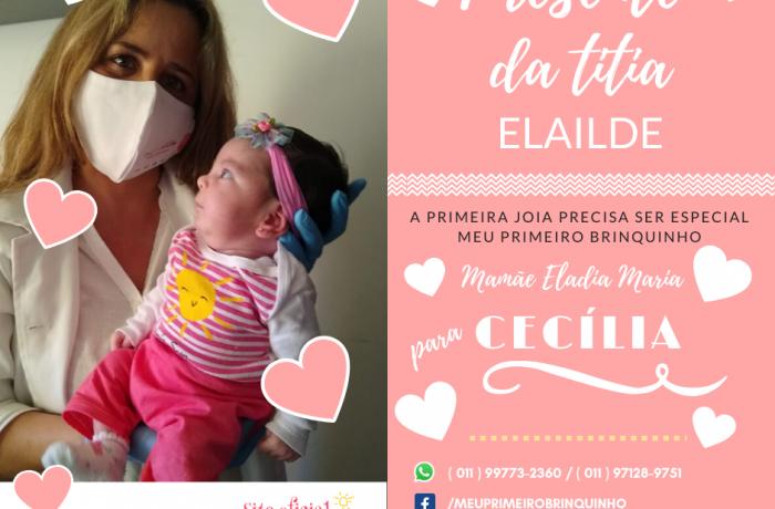 Presente da Titia Elailde para Cecília e mamãe Eladia.
